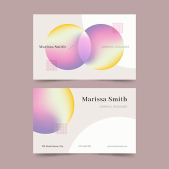 Pastel gradient business card