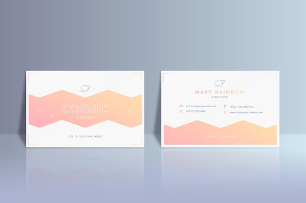 Pastel gradient business cards pack