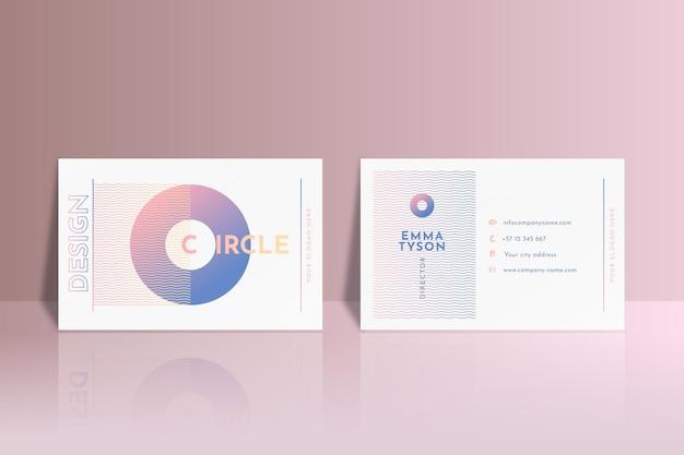 Pastel gradient business cards set