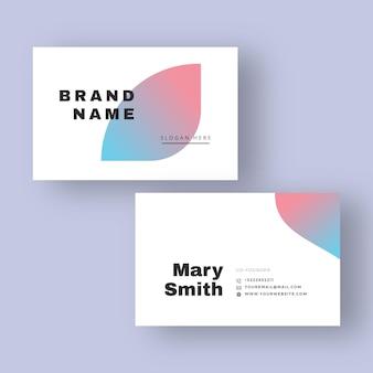 Пастельные градиентные визитки