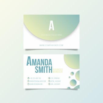 Pastel gradient business cards
