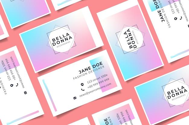 Pastel gradient business cards
