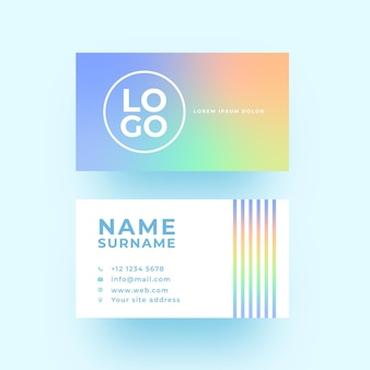 Pastel gradient business identity card