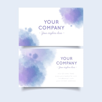 Pastel gradient colours and brush strokes business card