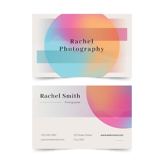 Pastel gradient company card template
