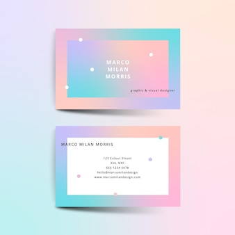 Pastel gradient company card