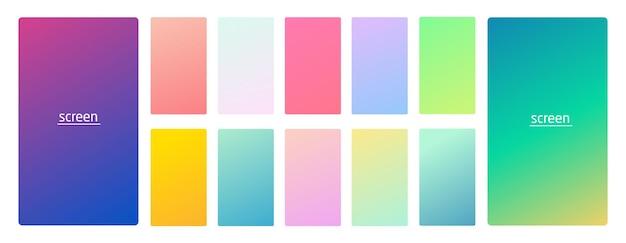 Пастельный градиент гладкий и яркий мягкий цветной фон для устройств
