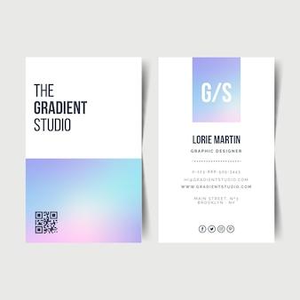 Шаблон пастельных градиентов для визиток