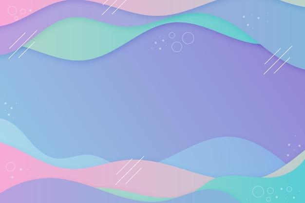 Пастельный градиент волнистый фон