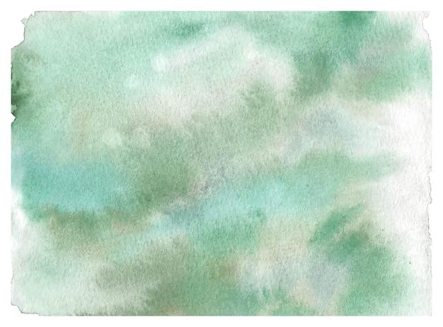 パステルグリーンのテクスチャ水彩背景