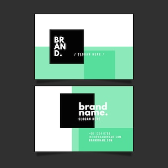 Pastel green visit business card