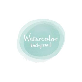 パステルグリーンの水彩画の背景のベクトル