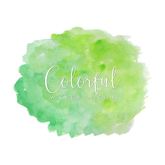 Пастельно-зеленые акварельные мазки