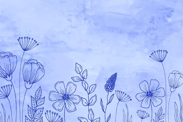 Pastel hand drawn background