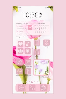 Pastel home screen interface