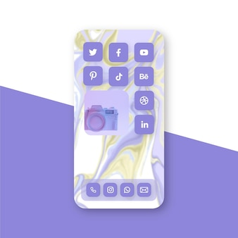 Pastel home screen theme for smartphone