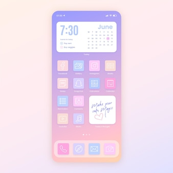 Pastel home screen