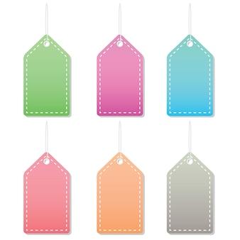 Pastel label tags
