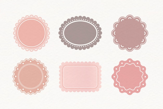 Pastel labels set