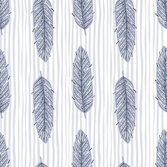 Пастель оставляет элементы бесшовные модели в абстрактном стиле. легкий полосатый узор