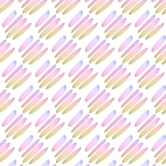 Pastel lines abstract watercolor seamless pattern