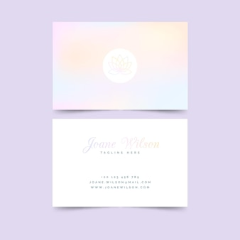 Pastel lotus flower business card template