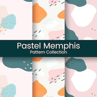 Pastel memphis pattern design