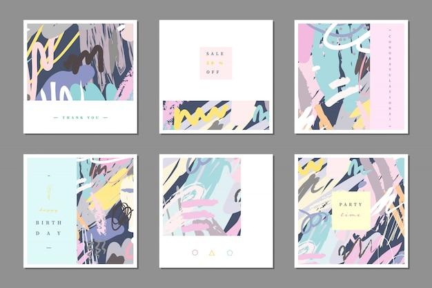 Pastel multipurpose card template.