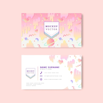 Pastel name card mockup vector