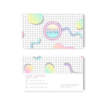Pastel name card mockup