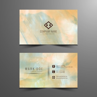 Pastel paint business card