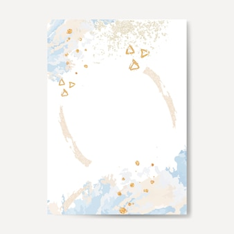 Pastel paint pour card vector