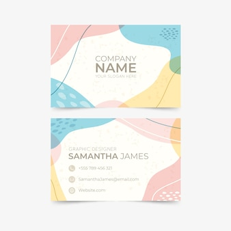 Pastel painted business card template