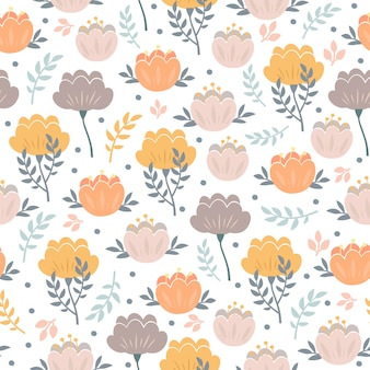 Pastel pattern with peonies