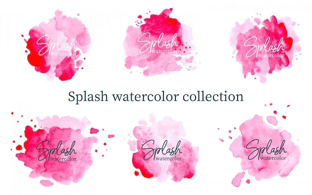 Pastel pink splash watercolor collection