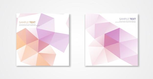 Pastel polygonal covers design. minimal geometric pattern