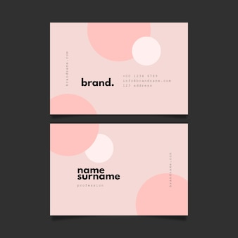 Pastel salmon colours visit business card