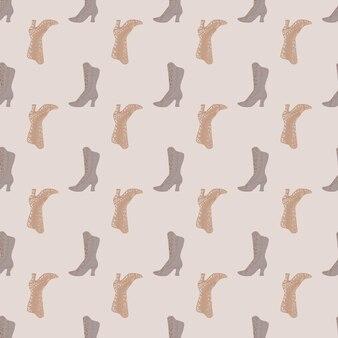 女性とのパステルのシームレスな光のパターンは、シンプルなシルエットを誇っています。灰色の背景。季節のテキスタイルプリント、ファブリック、バナー、背景、壁紙のベクトルイラスト。