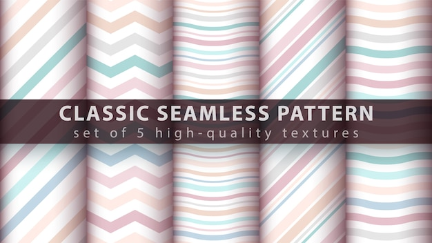 Pastel seamless line and wave pattern