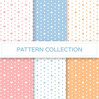 Pastel seamless pattern collection.