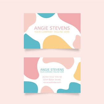 Pastel stains colours and brush strokes business card