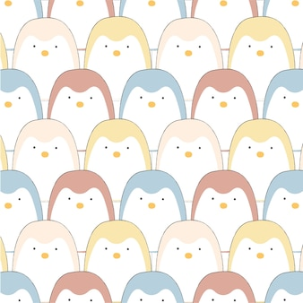 パステル甘いペンギン