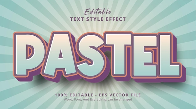 Pastel text with pastel color style effect, editable text effect