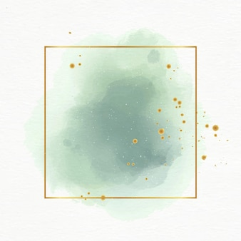 Пастельная акварель с золотой рамкой