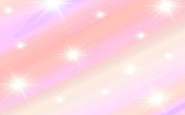 Pastel watercolor with light sparkling background