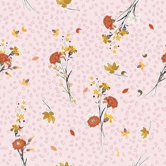 パステル野生の花のパターン