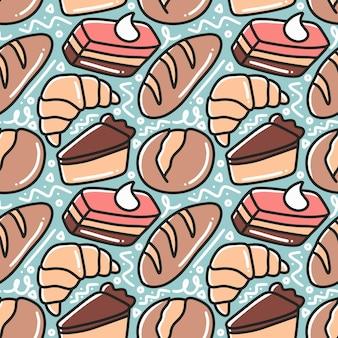 과자 손 그리기 패턴