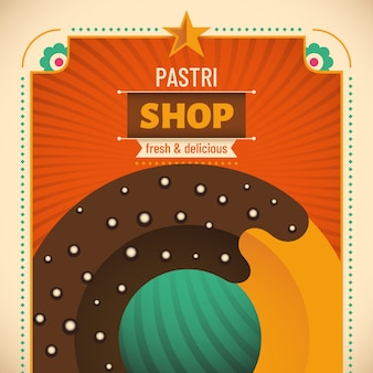 Pastry shop background