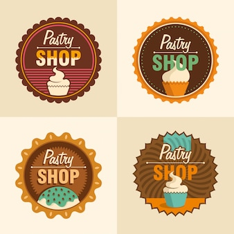 Pastry shop stickers