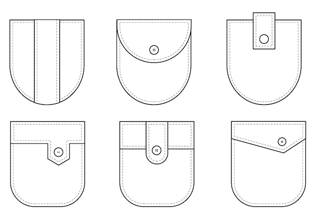 Накладной карман набор форменных накладных карманов для одежды платье рубашка повседневный джинсовый стиль